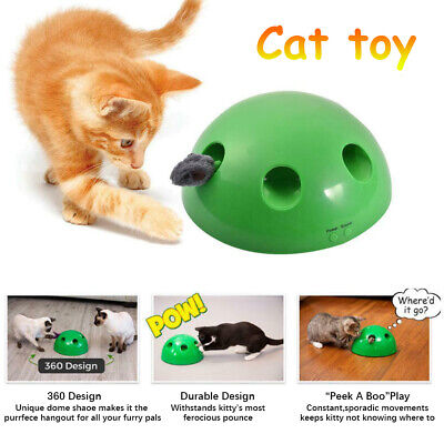 Pop N' Play Interactive Motion Cat Toy Mouse Tease Electronic Pet Toys Funny PI