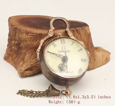 Antique Chinese Copper Crystal Pendant Pocket Watch Mechanized Handicraft Gift