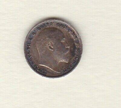1907 Edward Vii Silver Maundy Twopence In Good Extremely Fine Condition.