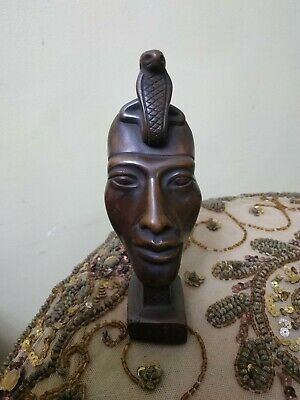 Antique Statue Rare Ancient Egyptian Pharaonic Akhenaten mask brown bc