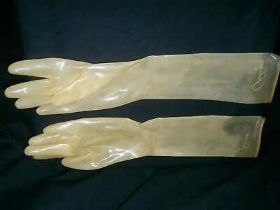 Fetish Bondage Rubber Latex Transparent Elbow Gloves 1520 Fisting Catsuit Sexy