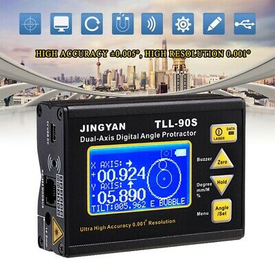 TLL-90S High Precision Angle Meter 0.005Degree Digital Dual-axis Laser Level