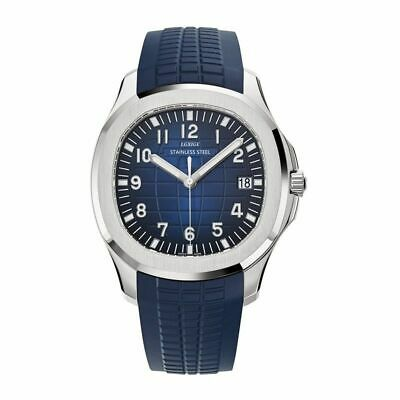 Men's New Swiss Made Aquanaut Nautilus Homage Watch Stainless Steel Rubber Strap
