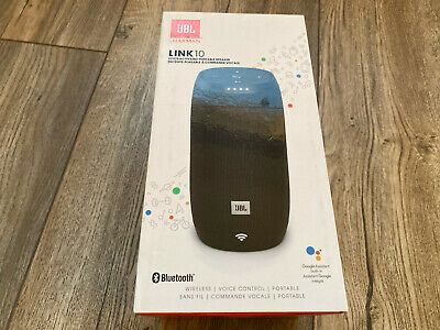 JBL Link 10 Portable Wireless Smart Sound Speaker - Black - Brand New