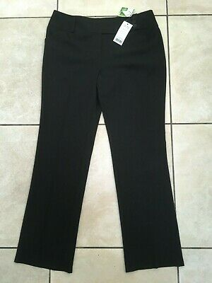 George (Asda) Girls Adjustable Waist School Trousers Age 15-16 Years BNWT Black