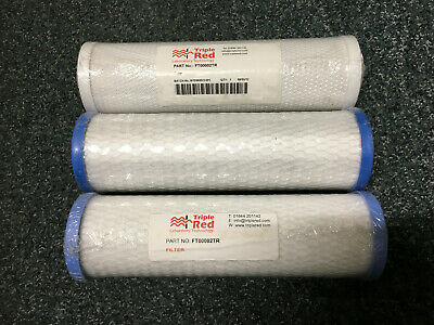 """3 Water Filter Element Carbon 10""""  FT00002TR - NEW"""