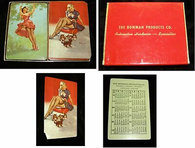 Pinup Playing Cards Elvgren 2 Different Decks In 1 Box Bowman Products 1952 Prem