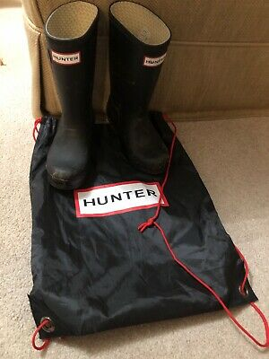 Boys Hunter Wellington Boots With Bag Size 11