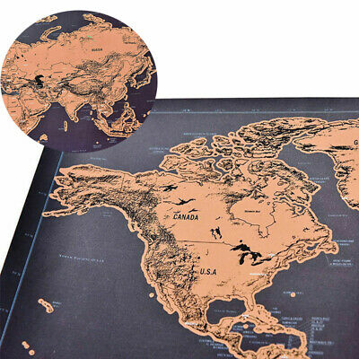 Log Giant Map Deluxe Scratch Off World Map Poster Journal Of The World Gift