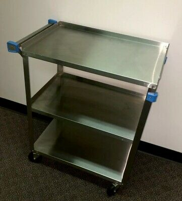 Cart Stainless Lakeside 311 3 Tier Stage Utility Doctor Dental Restaurant Tattoo