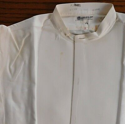 Starched vintage tunic shirt size 14.5 Gieves mens formal dress wear