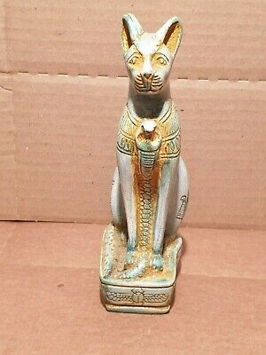 Scarce Antique Ancient Egyptian Statue God Bastet Cat protection home1480BC