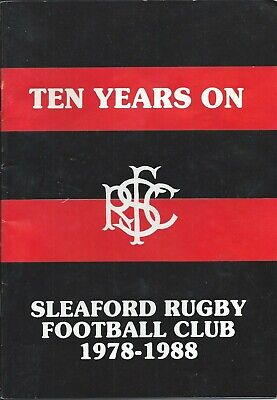 1978-1988 Sleaford Rfc Ten Years On History Booklet