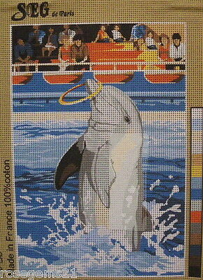 UNSTITCHED TAPESTRY - Dolphin Catching a Hoop (NEW) from SEG paris