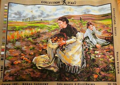TWO LADIES FARMING ~ NEW Tapestry - COLLECTION D'ART