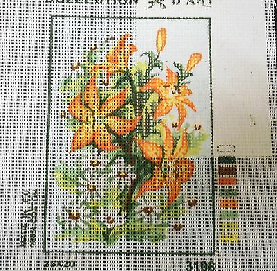 ORANGE, YELLOW & WHITE FOWERS - Tapestry to Stitch (NEW) by Collection D'Art