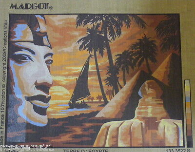 TERRE D'EGYPTE (Sphinx & Pyramids) ~ New Unstitched TAPESTRY CANVAS from MARGOT