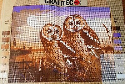 OWLS IN THE COUNTRY - Tapestry/Needlepoint to Stitch (NEW) by GRAFITEC