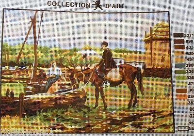 PEOPLE & HORSE AT THE WELL - Tapestry to Stitch (NEW)