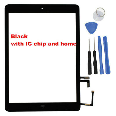Fits iPad Air 1 A1474 A1475 A1476 Touch Screen Digitizer Front Lens Replacement
