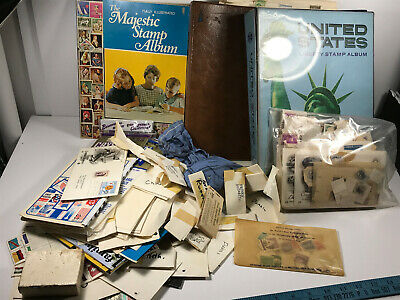 HUGE Stamp Collection (2,000+) Book 40s-50s NICE unsorted PARTIAL uncirculated