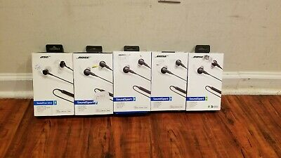5 AS IS Bose SoundSport SoundTrue Ultra In-ear Headphones Grey Free Shipping