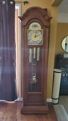 Seth Thomas Grandfather Clock with moon dial antique