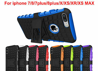 Phone 7 8 plus Case X XS MAX XR Cover Shock Proof  Armor Hybrid Stand