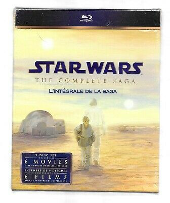 STAR WARS The Complete Saga 9 Disc Set BluRay NEW