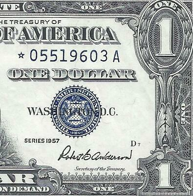 1957 $1 BLUE Seal **STAR** SILVER Certificate! Old US Paper Money Currency!