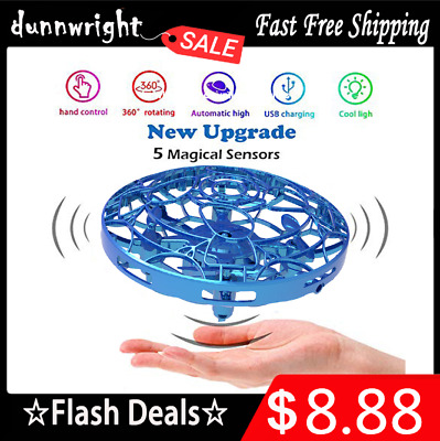 360° Mini Drone Infrared Sensor UFO Flying Toy Induction Aircraft Quadcopter Toy
