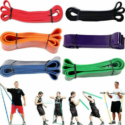 Pull Up Resistance Body Stretching Band Set Loop Heavy Gym Exercise Fitness Yoga
