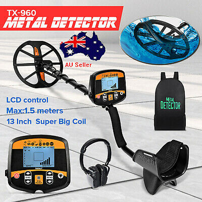 Professional Metal Detector TX-960 Waterproof LCD Screen Underground Scanner AU