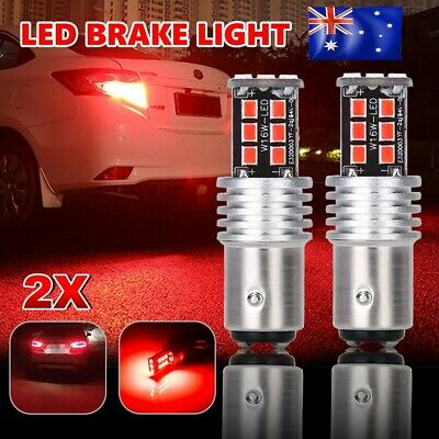 2X Bay15D 1157 P21/5W Red 2835 15 Led Brake Stop Tail Light Canbus Bulb Globe