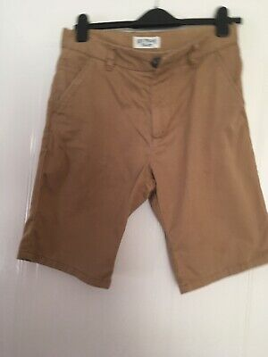 Next Age 14 Brown/Sand Chino Shorts