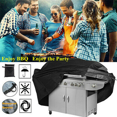 190cm Heavy Duty BBQ Cover Waterproof Medium Barbecue Grill Outdoor Protector