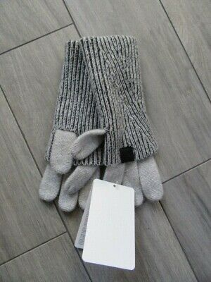 North Face Cryos Cashmere Fold-Over Gloves, Gray, Nwt $165, M/L