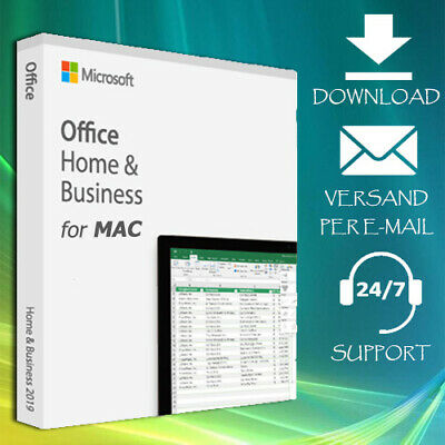 Office 2016/2019 Home&Business/Professional Plus for MAC - 2min. Key Per eMail
