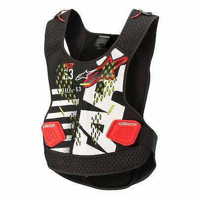Alpinestars Sequence Body Armour Chest Protection - Anthracite Red White