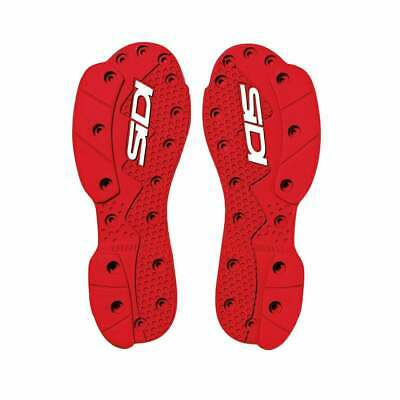Sidi Sms Supermoto Replacement Soles Boots Motocross Boot Spares - Red All Sizes