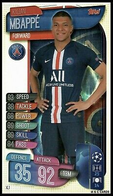 Match Attax 2019/20 KYLIAN MBAPPE - OVERSIZE CARD Extra Large Champions League