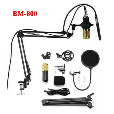 BM-800 Studio Audio Sound Condenser Recording Microphone Mic Kit Home KTV Party