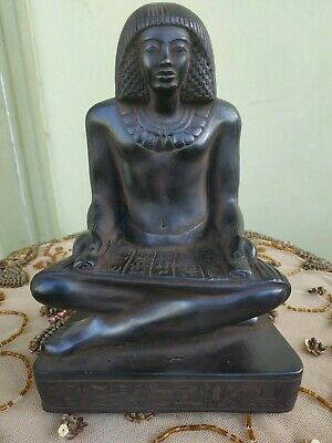 Antique Statue Rare Ancient Egyptian Pharaonic Egyptian writer Stone bc