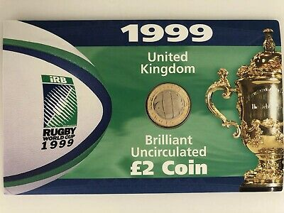 1999 Rugby World Cup £2 Coin Royal Mint BU