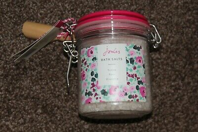 Joules 600G Jar Bath Salts With Wooden Scoop Bnwt