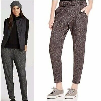 Eileen Fisher Slouchy Jogger Pants Gray Organic Cotton Wool Blend Tapered Size S