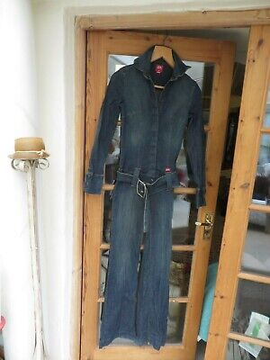 Miss Sixty ladies Vintage denim jump/boiler suit with belt cotton/elastane XS8