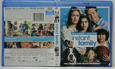 Instant Family (Blu-Ray/DVD,2-Disc) FREE Ship Rose Byrne Wahlberg No Digital