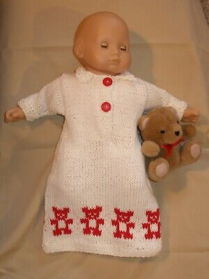 clothes for 15 in baby dolls hand-knit sleeper