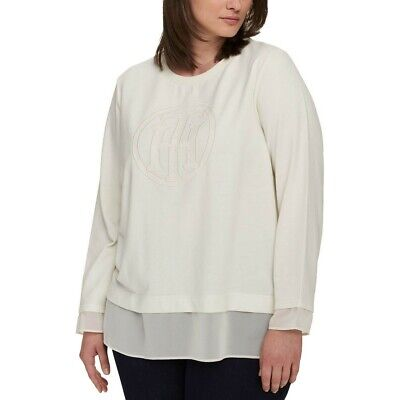 TOMMY HILFIGER Women's Plus Size Layered-look Logo Sweatshirt Top TEDO